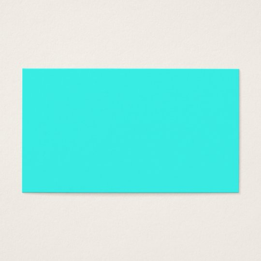 Blaue Türkis-Farbe des enthusiastischen Aqua-B14 Visitenkarte