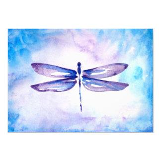 Blaue u. lila Libellen-Hochzeits-Einladungen 12,7 X 17,8 Cm Einladungskarte