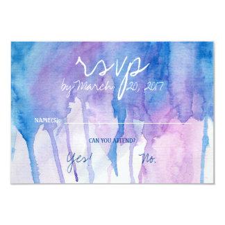 Blaue u. lila Watercolor   UAWG Karte 8,9 X 12,7 Cm Einladungskarte