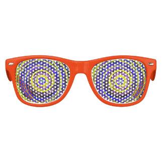 Blaue und gelbe Wirbels-KinderParty-Schatten Kinder Sonnenbrillen