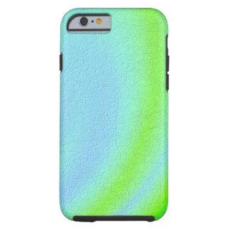 Blaue und grüne Beschaffenheitskunst Tough iPhone 6 Hülle