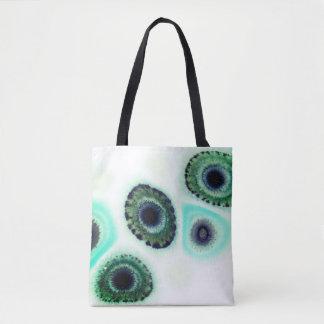 Blaue und grüne Kiwi Geode Zen-Taschen-Tasche Tasche