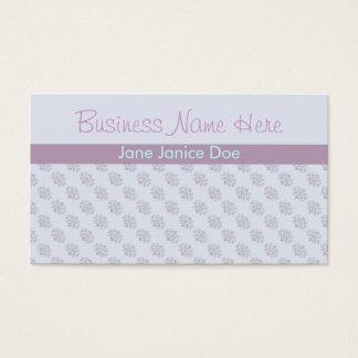 Blaue und lila Pastellmuster-Geschäfts-Karte Visitenkarte