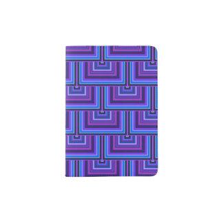 Blaue und lila quadratische Skalen Passhülle