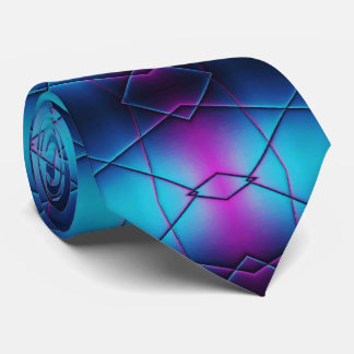 Blaue und lila Steigungs-abstraktes Muster Personalisierte Krawatte
