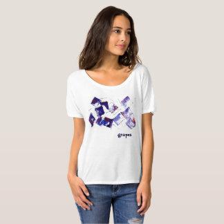 Blaue und lila Trauben der Trauben-modernen Kunst T-Shirt