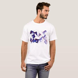 Blaue und lila Trauben-moderne Kunst mit Zitat T-Shirt