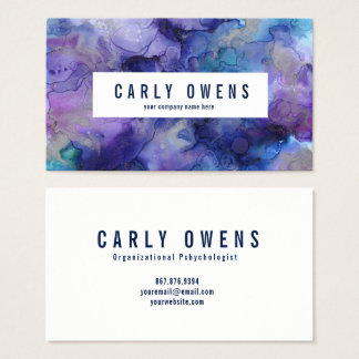 Blaue und lila visitenkarte