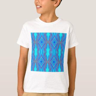 Blaue und rosa Beschaffenheit T-Shirt