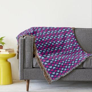 Blaue und rosa gemusterte Throw-Decke Decke