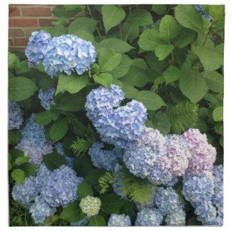 Blaue und rosa Hydrangeas Stoffserviette