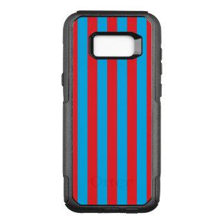 Blaue und rote vertikale Streifen OtterBox Commuter Samsung Galaxy S8+ Hülle