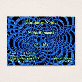 Blaue und schwarze Gitter-Visitenkarte Visitenkarte