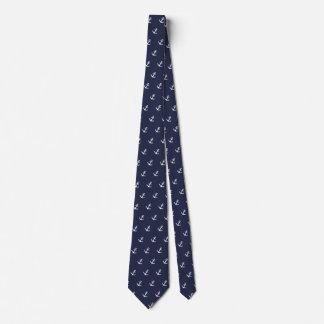Blaue und weiße Anker-nautischKrawatte Individuelle Krawatte
