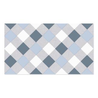 Blaue und weiße Diamanten Visitenkarten