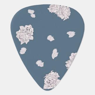 Blaue und weiße Rosen Plektrum