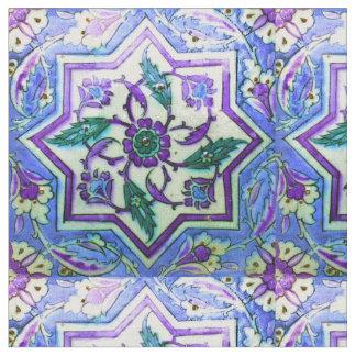 Blaue und weiße Vintage Fliese der Ottoman-Türkei Stoff
