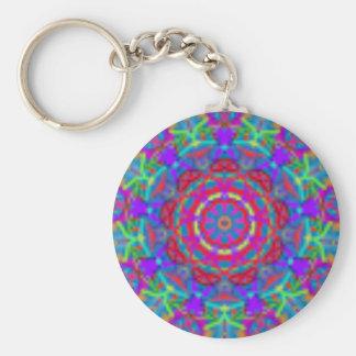 Blaue Universum-Mandala Keychain Standard Runder Schlüsselanhänger
