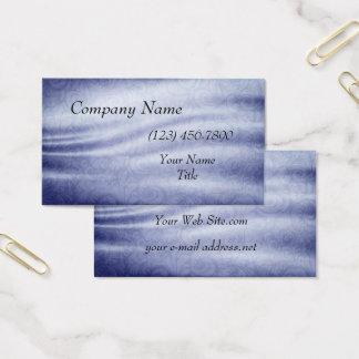 Blaue Vintage Gewebe-Beschaffenheit Visitenkarte