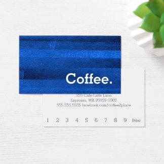 Blaue Visitenkarte
