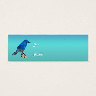 Blaue Vogel-Geschenk-Umbauten Mini Visitenkarte
