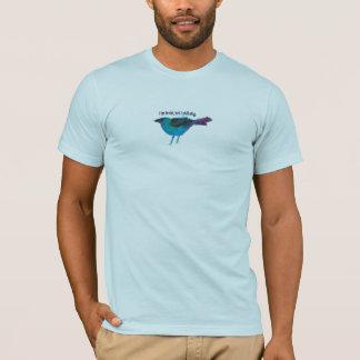 Blaue Vogel-Medien-Collage T-Shirt