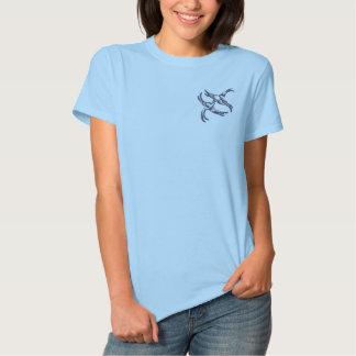 Blaue Weide Besticktes T-Shirt