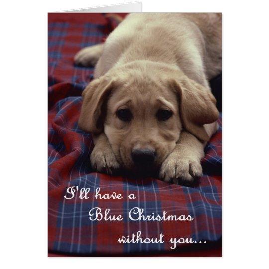 Blaue Weihnachtskarte Grußkarte