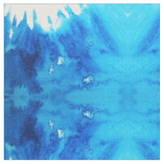 Blaue weiße Aquarell-Schwingungen Stoff