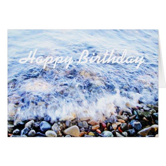 Blaue Welle Geburtstag greetin Karte