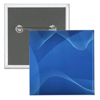Blaue Wellen Quadratischer Button 5,1 Cm