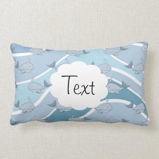 blaue wellen wal nahtloses muster kissen zazzle. Black Bedroom Furniture Sets. Home Design Ideas