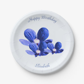 Blaue wilde Blumen Pappteller