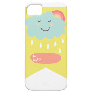 Blaue Wolke - entspannt - Geschenk iPhone 5 Hülle