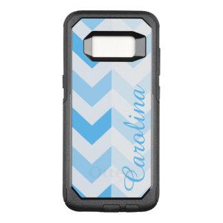 Blaue Zickzack Namensschablone OtterBox Commuter Samsung Galaxy S8 Hülle