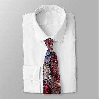 Blaue Ziegelsteinund Blütenregular-Krawatte Krawatte