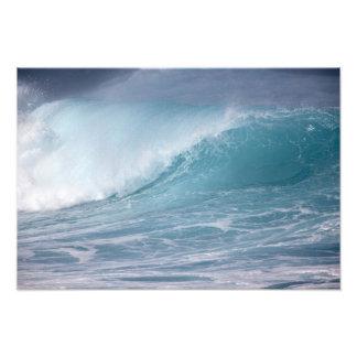 Blaue zusammenstoßende Welle, Maui, Hawaii, USA 3 Kunstphoto