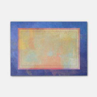 Blauer abstrakter Quadrat-Entwurf Post-it Klebezettel