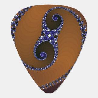 Blauer abstrakter Strudel Browns Plektron