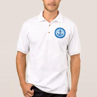 Blauer Anker-Seemann Polo Shirt