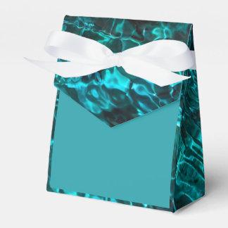 Blauer aquamariner Bevorzugungskasten mit Geschenkschachtel