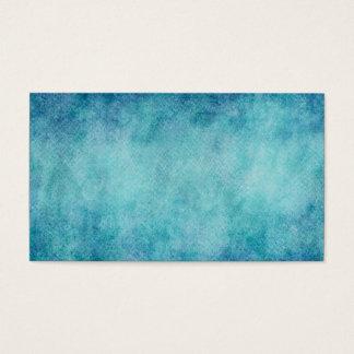 Blauer Aquarell-Türkis-Papier-Hintergrund Visitenkarte