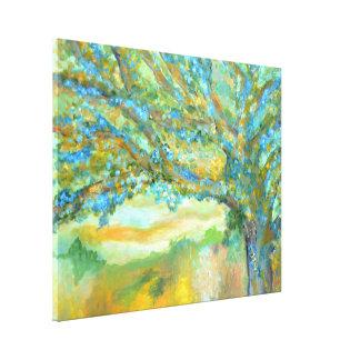 Blauer Baum, der | Baumlandschaftskunst-Leinwand Leinwanddruck