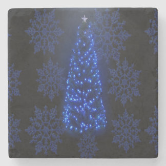 Blue Tree & Subliminal Snow Flakes Drink Coasters