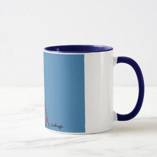 Blauer Bischof mit blauer Kante Tasse
