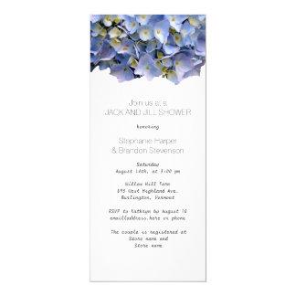 Blauer BlumenJack-und Jill-Polterabend 10,2 X 23,5 Cm Einladungskarte