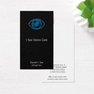 Blauer Briefbeschwerer-Art Auge-Betrug Visitenkarte