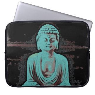 Blauer Buddha Laptopschutzhülle