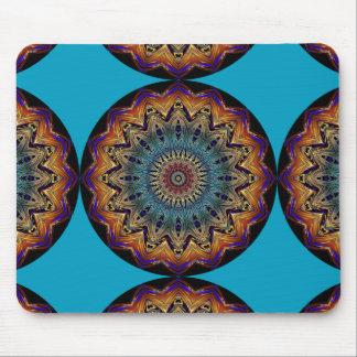 Blauer bunter abstrakter Mandala-mystische Mousepads