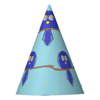 blauer Cartoonvogel-Partyhut Partyhütchen
